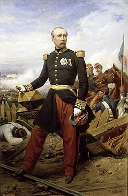 Marechal The 1st Duke of Magenta, military commander and, later, President of the French Republic PatriceMacMahon.jpg