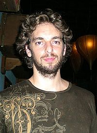 Pau Gasol wearing a brown T-shirt