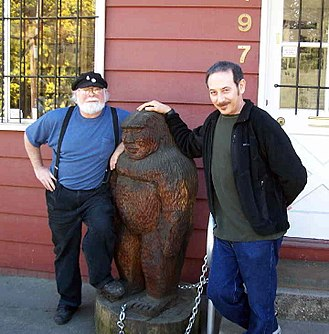 Paul Reubens - Reubens with the curator of the Bigfoot Discovery Museum in the Santa Cruz Mountains in March 2006