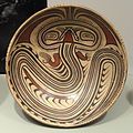 Pedestalled Plate, 700-900 AD, Macaracas style, central Panama, earthenware with red and black on cream slip - Gardiner Museum, Toronto - DSC01188.JPG