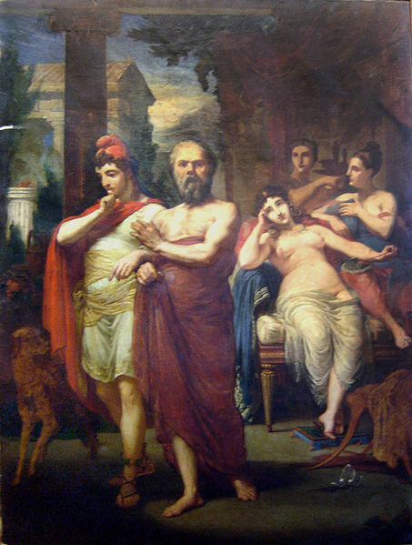 Ficheiro:Pedro Américo - Sócrates afastando Alcebíades do vício, 1861.JPG