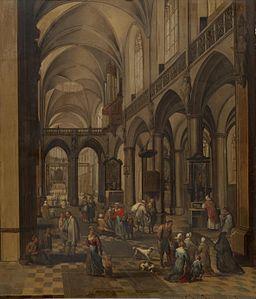 Peeter Neeffs (I) - Interior of a Flemish Church - WGA16477
