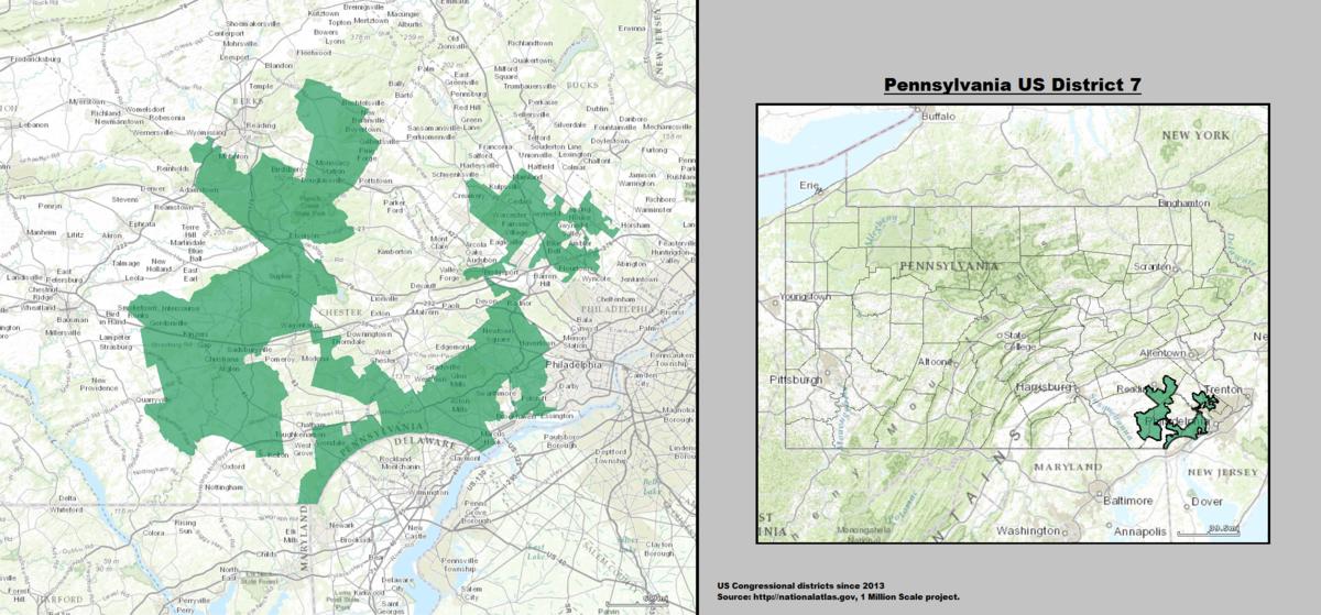 Pennsylvanias Th Congressional District Wikipedia - Us representative district map pennsylvania