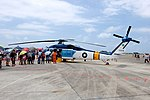 People aboarding ROCAF S-70C 7006 at Gangshan Air Force Base 20170812a.jpg