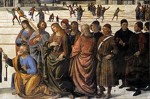 Delivery of the Keys (Perugino) - Detail.