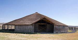 National Register of Historic Places listings in Harney County, Oregon - Image: Peter French Round Barn exterior