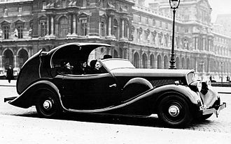 Retractable hardtop - 1934 Peugeot 601 C Eclipse