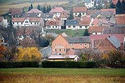 Pfiffelbach- View to the village (telephoto)