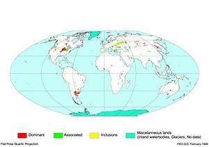 Phaeozem - Distribution of phaeozems