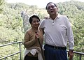 Philippine President Gloria Macapagal Arroyo with First Gentleman Atty. Mike Arroyo during her visit to Sagada, Mountain Province.jpg