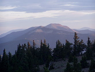 Philmont Scout Ranch - Mount Baldy, from the peak of Mount Phillips