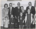 Photograph of Family of Dr. Robert H. Bahmer, at the Party Celebrating His Appointment as Archivist, 1966 (13586864235).jpg
