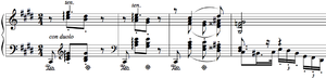 Moritz Moszkowski - In the second movement, the piano plays a variation of the main melody.