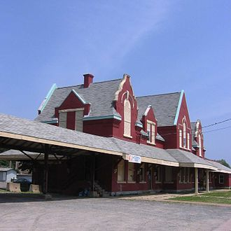 Pictou - The former train station in Pictou is now a museum.