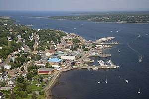 Pictou Harbour - Aerial view of Pictou and the harbour