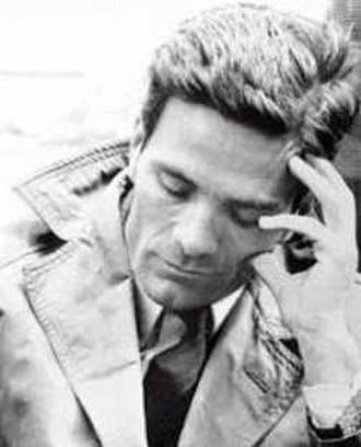 22nd Berlin International Film Festival - Pier Paolo Pasolini, winner of the Golden Bear at the event.