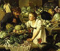 Pieter Cornelisz van Rijck - Market scene with two figures 1622.jpg
