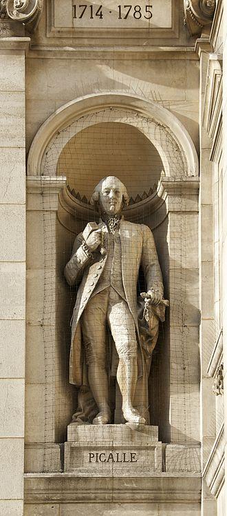 Jean-Baptiste Pigalle - Statue of Jean-Baptiste Pigalle on the Hôtel de Ville of Paris