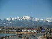 Pikes Peak from Colorado Springs by David Shankbone