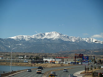 El Paso County, Colorado - Pikes Peak dominates the county's skyline.