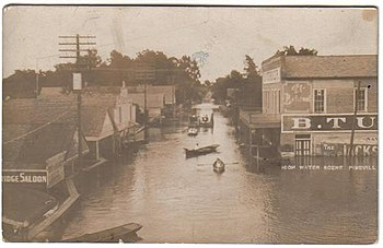 Flooding in Pineville, Louisiana, 1910
