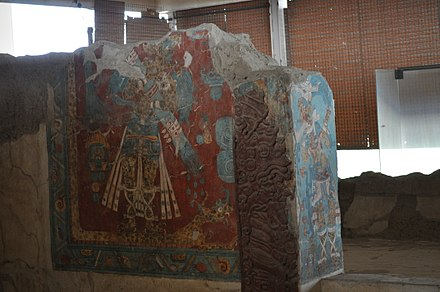 Mural of the Portic A, in Cacaxtla, Tlaxcala Pinturas 3.JPG