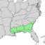Pinus glabra range map.png