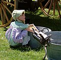 Pioneer Girl, Helping Mom, Oak Glen, Ca 5-2008 (5898465244).jpg