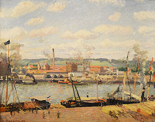 View of the Oissel Cotton Mill, near Rouen