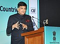 Piyush Goyal addressing at the business interaction in honor of heads of states and governments of Pacific island countries.jpg