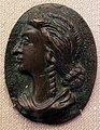 Placchetta dall'antico, livia drusilla (o sim), xvi sec 1.JPG