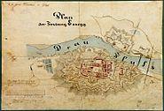 Plan of Tvrdja in Osijek 1861