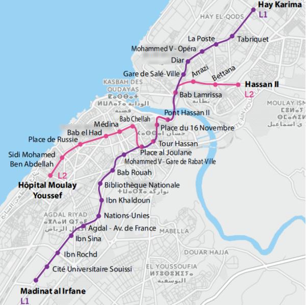 Plan tramway rabatsalé