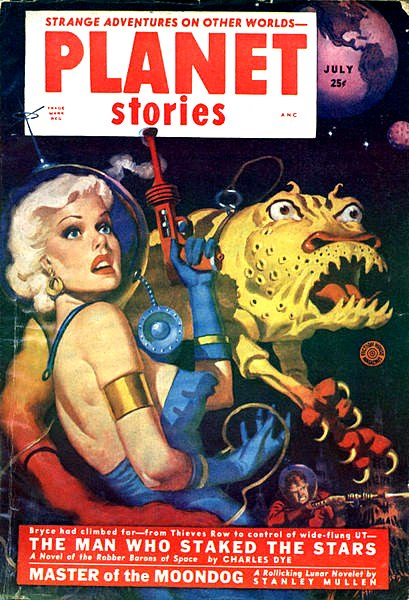 Planet Stories July 1952 front cover