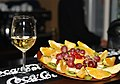 Plate of fruits with a glass of wine II.jpg