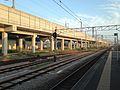 Platform of Araki Station and Kyushu Shinkansen (south).jpg