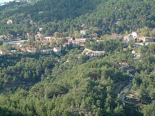 Platres Village in Limassol, Cyprus
