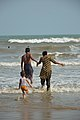 Playful Family with Sea Waves - New Digha Beach - East Midnapore 2015-05-01 8719.JPG
