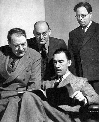 Elmer Rice - Maxwell Anderson, S. N. Behrman, Robert E. Sherwood and Elmer Rice, four of the five founders of the Playwrights' Company (1938)