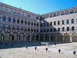 Vista de la Plaza Alta de Badajoz.