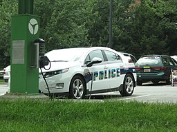 Plug-in police car Chevy Volt
