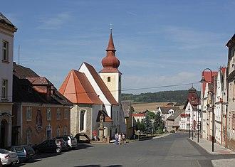Poběžovice - Image: Poběžovice náměstí Míru