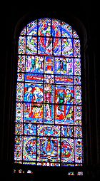 Stained glass from Poitiers Cathedral, 12th century.