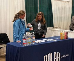 The Polar Beverages booth at the Blackstone Valley Chamber of Commerce's Home and Business Expo.