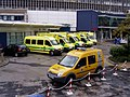 Police Van and Ambulance outside RLUH.jpg