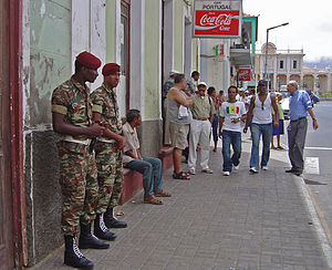 Cape Verdean Armed Forces - Military Police in Mindelo