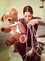 Polka Dot Door Nina Keogh with Bear (1971).jpg