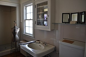 Bathroom, Polson Museum, Hoquiam, Washington, ...