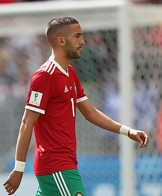 Hakim Ziyech - Ziyech with Morocco at the 2018 FIFA World Cup
