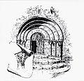 Portada romànica de l'església arxiprestal de Sant Mateu, gravat de l'obra 'Valencia' de Teodor Llorente.jpg